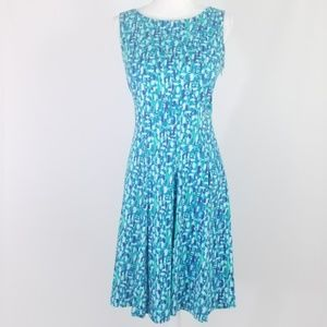 CALVIN KLEIN Geo-print Fit and Flare Dress SZ 8